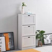 Panana мебель для дома Гостиная Обувь для хранения с 3 выдвижной стойка с полочками шкаф белый