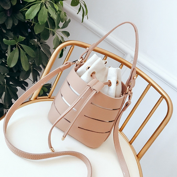 Drawstring Bucket Bag For Women Mini Pu Leather Crossbody Bags Ladies Shoulder Bags Female Handbags Pure ColorDrawstring Bucket Bag For Women Mini Pu Leather Crossbody Bags Ladies Shoulder Bags Female Handbags Pure Color