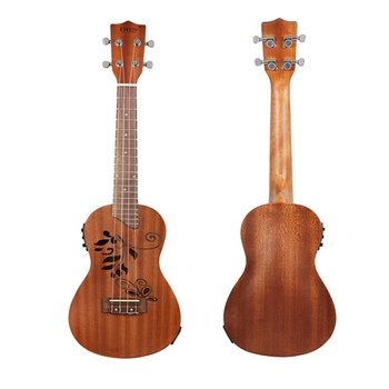 New IRIN 24 Inch Concert Electroacoustic Ukulele Abalone Shell Edge 18 Fret Four Strings Hawaii Guitar With Built-In EQ Pickup