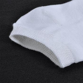 10 زوج / مجموعة أزياء المرأة أسود أبيض قارب الكاحل الجوارب السيدات رقيقة جدا بلون الخريف الدافئة انخفاض قطع مزيج القطن الجوارب 4