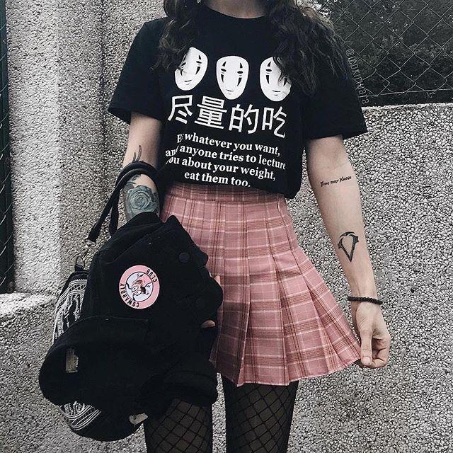 Gepäck & Taschen Hillbilly Japanischen Anime Essen Was Auch Immer Sie Wollen Lustige Sprüche Tees T-shirt Frauen Harajuku Mode Niedlichen Casual Schwarz Tops Kleidung