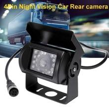 4 Pin Интерфейс Автобус Грузовик Ночное видение Автомобильная камера заднего вида с 18 светодиодный свет Waterpoof IP68 Реверсивный резервного заднего вида Камера