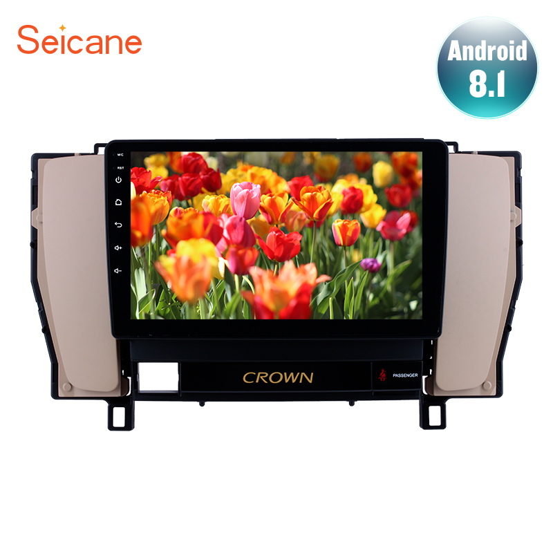 Seicane Android 8.1 Car GPS Navigation Auto Stereo For 2010 2014 Toyota old crown 9 Inch Unit Player With Steering Wheel Control