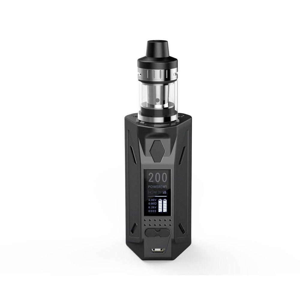 200 W Kit de Démarrage Vaporisateur Mod contrôle de la température Électronique Cigarette 4 Ml Réservoir En Métal Corps Shisha Stylo Narguilé Kit