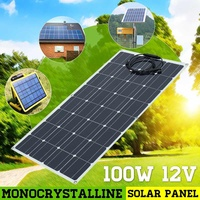 100w Solar Panel Panels Solar Cells Cell Module Double USB interface12V/5V for Car Yacht Led Light Boat Outdoor Charger
