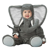 New Infant Toddler Baby Boys Girls Grey Elephant Halloween Dress up Cosplay Outfits Purim Holiday Costume Jumpsuits