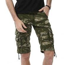 Камуфляжные карго-шорты камуфляжные мужские новые мужские s мужские шорты в повседневном стиле свободные рабочие шорты мужские военные Короткие штаны Большие размеры 29-44