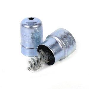 Image 3 - Auto Batterij Post Terminal Cleaner Vuil En Corrosie Borstel Hand Clean Tool Velgen Band Wasborstel Auto Car Care schoonmaken