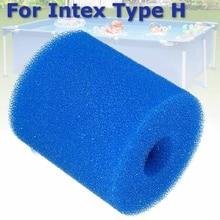 2 размера фильтр для плавательного бассейна многоразовая моющаяся губка для Intex H S1 тип картриджа пена подходит пузырьковый чистый спа