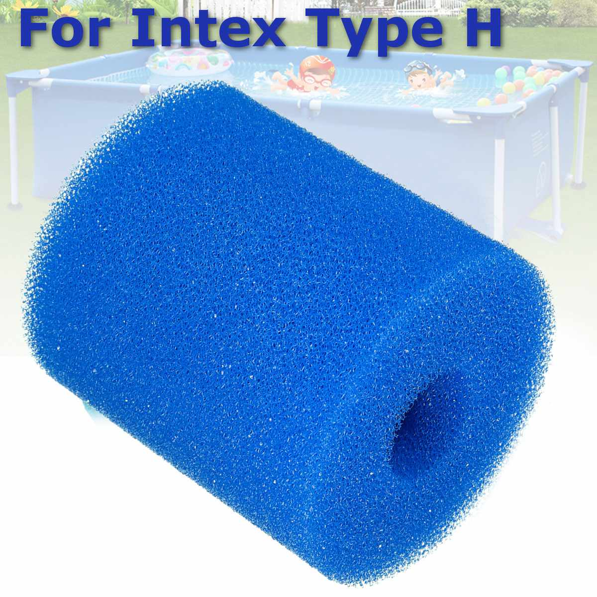 2 Sizes Swimming Pool Filter Foam Reusable Washable Sponge For Intex H S1 Type Cartridge Foam Suitable Bubble Jetted Pure SPA(China)