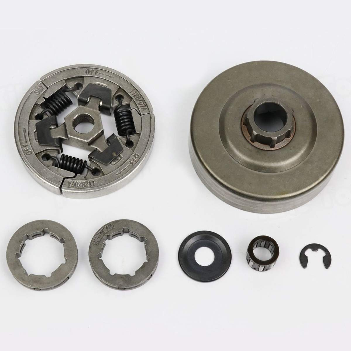 7Pcs 3/8'' Clutch Drum Rim Sprocket Bearing Kit For Stihl 036 MS360 Chainsaw Clutch Drum Rim Sprocket Bearing Chainsaw Tool Part