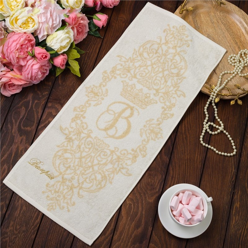 Фото - Towel именное Terry embroidery Валерия 30х70 cm 100% cotton, 420гр/m2 4072503 young time travel portable thickening cotton compressed towel white l