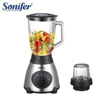 400W Multifunction electric food blender mixer kitchen stainless steel Glass standing blender vegetable Sonifer