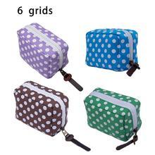 6 Grids Essential Oil Storage Bag Solid Construction Convenient Travel Storage Case For 10ML 15ML Bottles High Quality