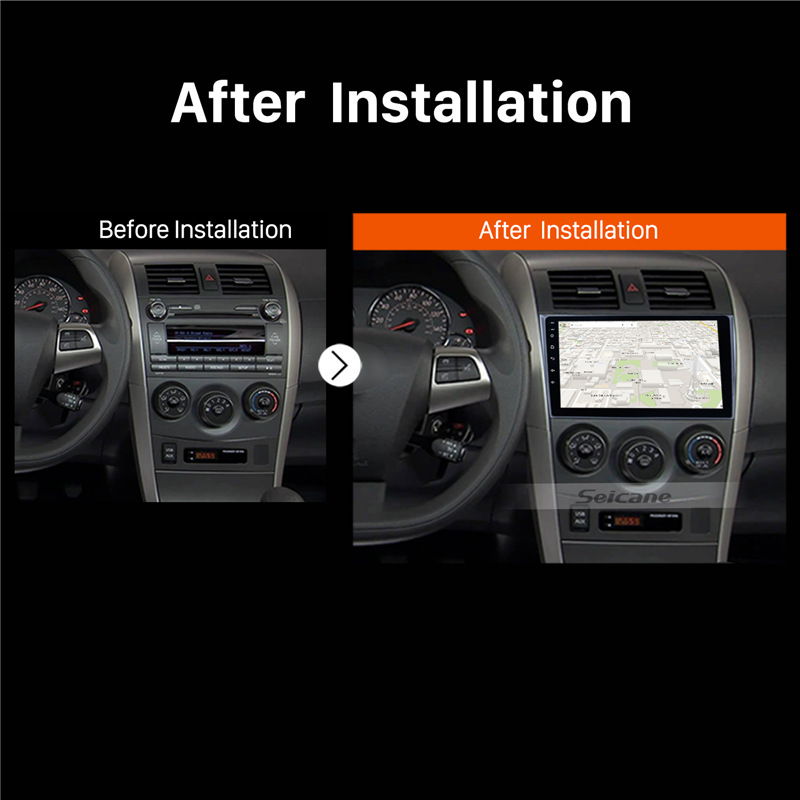 Seicane 9 inch Android 8.1 For 2006 2007-2009 2010 2011 2012 Toyota Corolla Car GPS Multimedia Player Support Radio Mirror Link