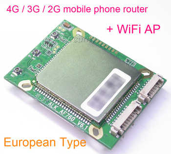 V6.1 router 4G TDD-LTE / FDD-LTE / 3G WCDMA / 2G GSM + WiFi AP for CCTV security IP camera PCB board module AF760 - SALE ITEM Security & Protection