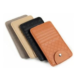 Image 5 - Car Auto Sun Visor Point Pocket Organizer Pouch Bag Card Glasses Storage Holder Car styling