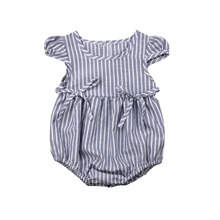 Baby Girls Sister Matching Striped Romper Tutu Dress Outfits