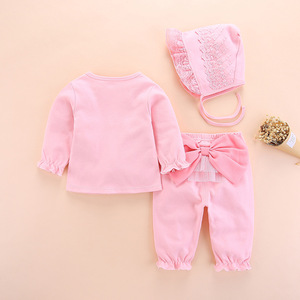 Image 3 - new born baby clothes set girl fall long sleeved cotton 0 3 months little girls clothing sets toddler newborn baby girl clothes