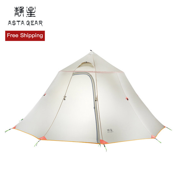 ASTAGEAR Shanju 6 people circle tower pyramid tent team tent collective tent camping family tent outing self-driving tour