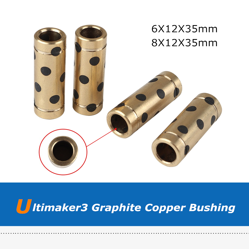 Self Lubricating Graphite Linear Bearing Shaft 8mm for Ultimaker 2 3D Printer
