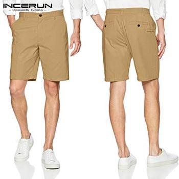 997d400aa Moda de verano Pantalones cortos Casual Masculina Bermudas Pantalones cortos  de algodón de los hombres de la moda Pantalones de la longitud de la  rodilla ...