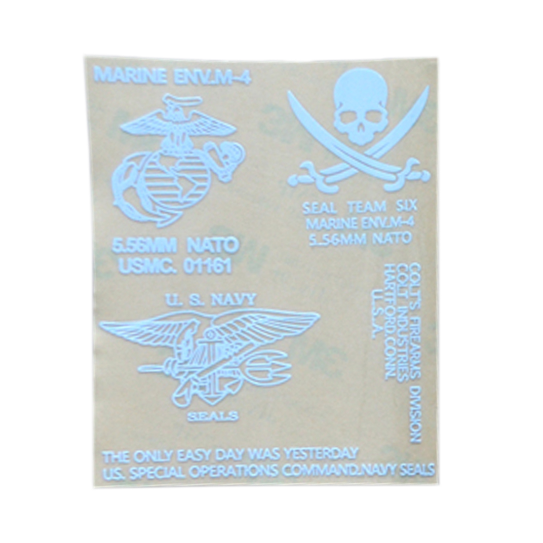 Seal Global Hawk Marine Corps Sticker Metal Decals - White
