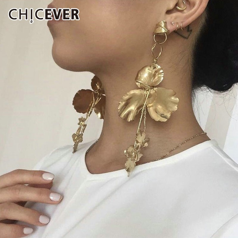 CHICEVER 2020 Spring Earmuffs Female With Flower Earrings Korean Fashion Elegant Earrings For Women Accessories New