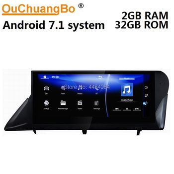 Ouchuangbo 10.25 inch touch screen car gps nav for Lexus RX270 RX350 450h 2009-2014 right hand driving support USB 8 cores 2+32