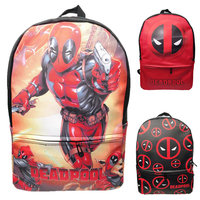 Deadpool Comics Super Hero Movie School Bags Men PU Leather Backpacks Cosplay Colorful Travel bag knapsack packsack