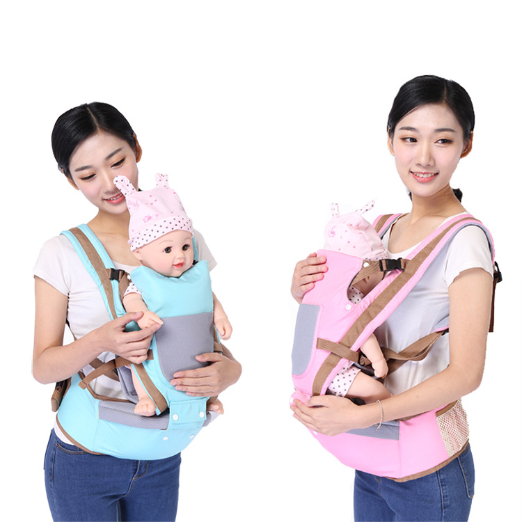 Three-in-one multi-function baby back baby belt cotton solid color safe soft back baby belt boys and girls seasons universal