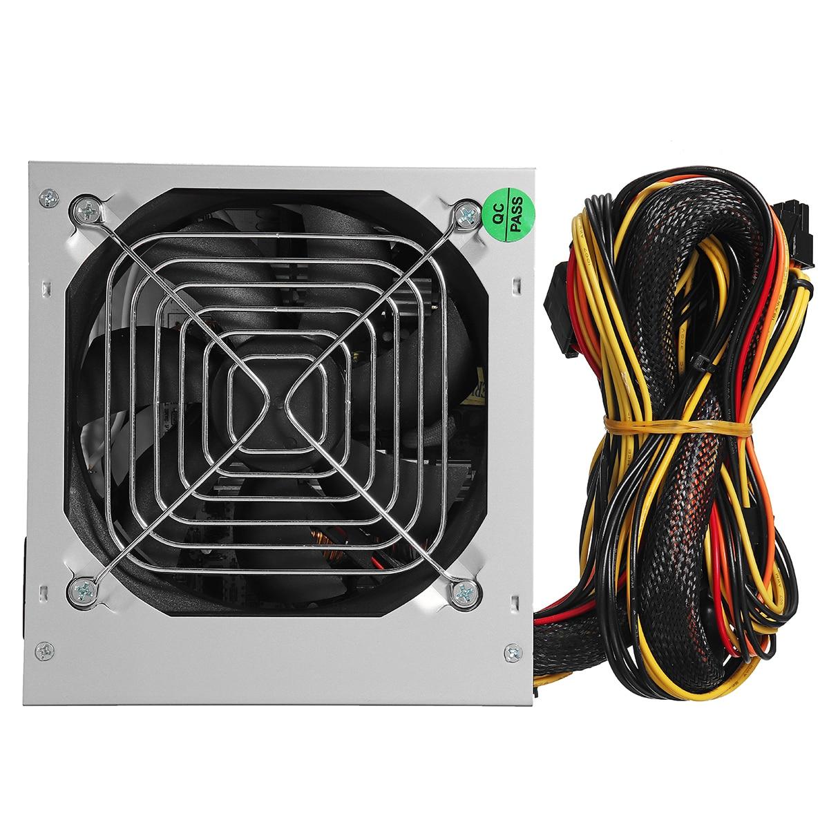 Max 1000W ATX alimentation ventilateur silencieux pour Intel AMD PC PC ordinateur mineur - 5