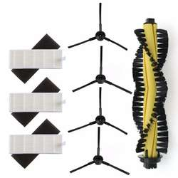 1 хглавная щетка + 3 xHEPA фильтр + 3 xSponge + 4 xSide щетки для машины пылесос Запчасти polaris Chuwi iLife a4 T4 X432 X430 X431