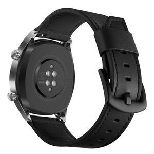 Image 4 - 22 مللي متر الذكية ساعة رياضية مع جلدية استبدال حزام ساعة اليد ل سماعة هواوي غرامة الملمس ، قوي ودائم الجلود حزام