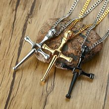 Mens Bisbol Kelelawar Cross Liontin Kalung Stainless Steel Toretto Letty Desain Crucifixion Pria Disco Bola Softball Pemain Hadiah(China)