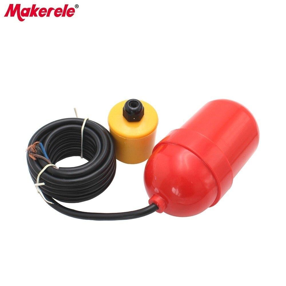 MK-CFS18 câble flotteur interrupteur 4 mètres rouge flotteur câble contrôleur de niveau d'eau automatique liquide fluide capteur de débit 4A/220 V