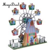 1Set Vintage Musical Ferris Wheel Clockwork Tin Toy Classic Wind up Toys Gift for Children Kids Adult Home Desk Table Decor