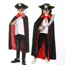 Boys Girls Pirate Costume Kids Children Jack Captain Cosplay Halloween For