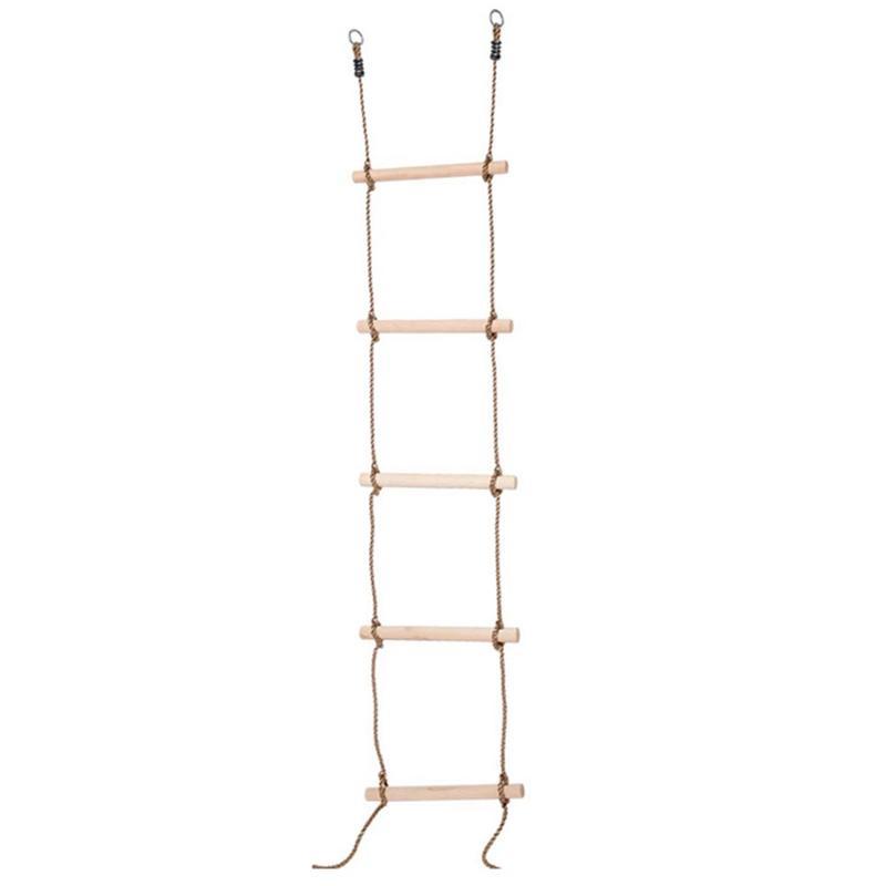 Échelons en bois Playhouse corde échelle enfants escalade jouet enfants Sport corde Swing sûr Fitness jouets équipement intérieur extérieur jardin