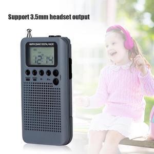 Image 4 - Уличное портативное AM/FM стерео радио, карманное 2 диапазонное цифровое тюнинговое радио, мини приемник, уличное радио с наушниками и шнурком