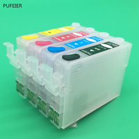 T1701-T1704 T1711-T1714 Refillable Cartridge With Chip For Epson XP-103 XP-203 XP-207 XP-306 XP-406 XP-313 XP-413 XP103 XP313