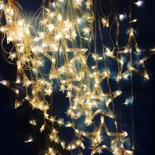 LED Star String Curtain Lights Five Pointed Star Starry light for Wedding Holiday Party Home Garden Christmas New Year(China)