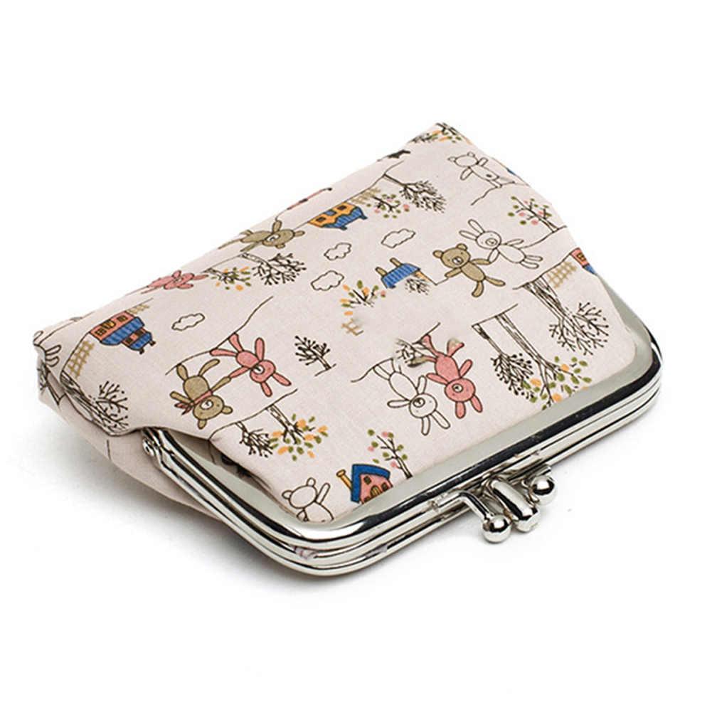 Monedero estampado de Alpaca para mujer, Bolso pequeño con estampado de flores, monedero, Mini bolso para damas, monedero, billetera para niños