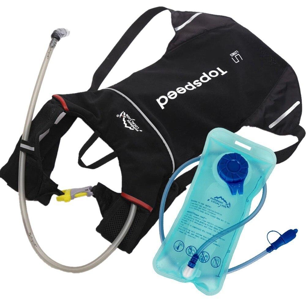 Bolsa de Água Leve Mulheres Maratona Correndo Mochila Hidratação Colete Trail Run Bicicleta Ciclismo Jogging Pacote 2l