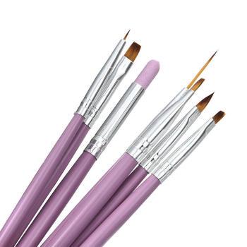 7 pièces/ensemble brosse à ongles pointillé peinture stylo à dessin Art des ongles brosse Gel vernis brosses ongles manucure outils Gel peinture stylo
