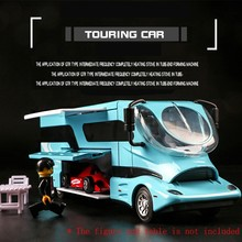 цена на 1:32 Travel Bus Die-cast Metal Car Model Vehicle 1619A Alloy Assemble Sound Light Pull Back Door Toy For Children Hot Toy Car