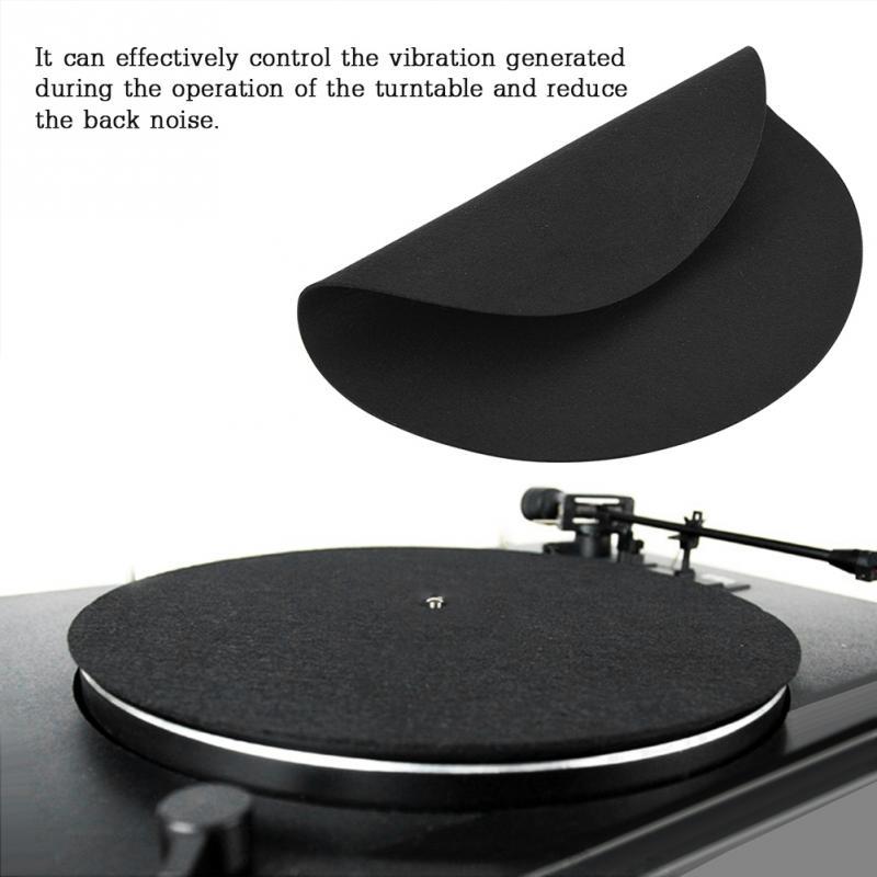 1 Pcs Ultra-dünne Anti-statische Vinyl Plattenspieler Rekord Pad Antistatischen Reduzieren Vibration Flache Weichen Matte Slipmat Matte Pad Hohe Qualität