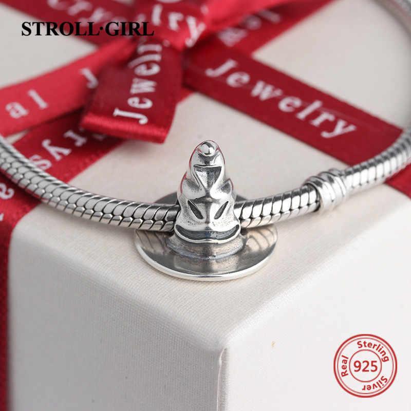"""Stellgirl Горячая продажа 925 стерлингового серебра """"шляпа"""" окислительная Подвеска бусины подходят оригинальный браслет Pandora для женщин для украшения подарка"""