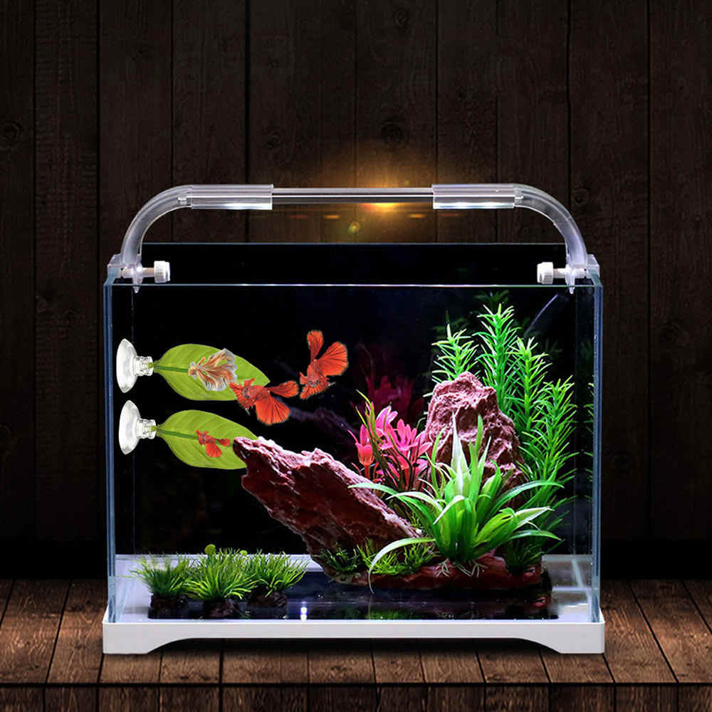 10*4 см Аквариум Искусственный лист Betta отдых для рыб лист зеленая вода трава Betta отдых лист подводный пейзаж