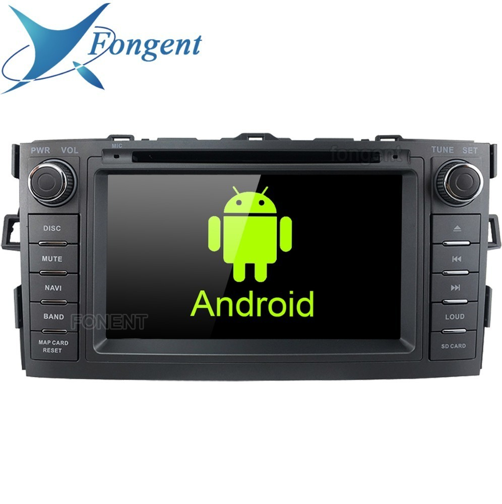 Multimedia-System Entertainment Audio Android-Unit 2-Din-Radio gps Stereo 2008 Toyota Auris